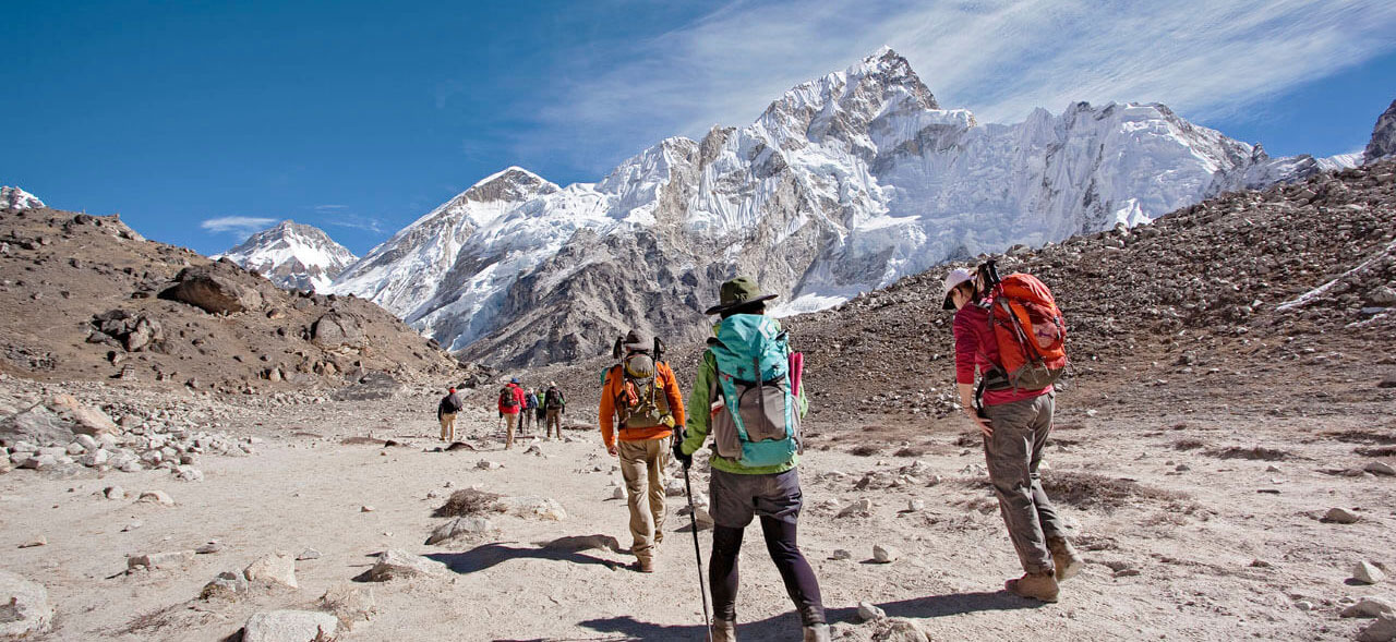 Everest base camp trek January